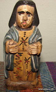 "Santos:  Small - Unknown Santo Wood Carving  (4.5"" to 5.5"")"
