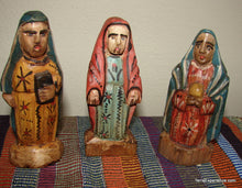 "Santos:  Small - Maria Wood Carving  (5"")  (5 Options)"