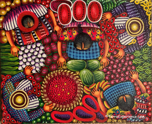 Angelina Quic Oil Painting - Mayan Coffee Picking Overhead (P-M-AQ9-20J) 9