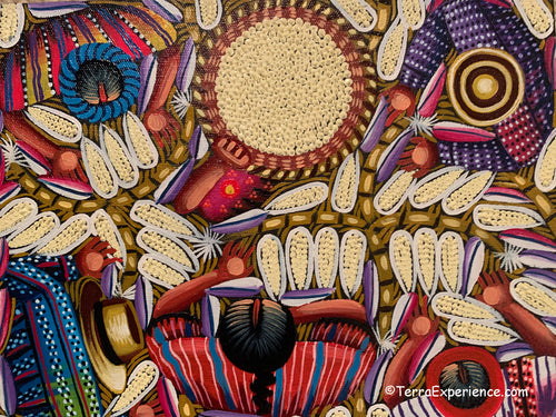 Angelina Quic Oil Painting - Mayan Maize (Corn) Overhead  (P-M-AQ-20N) 9