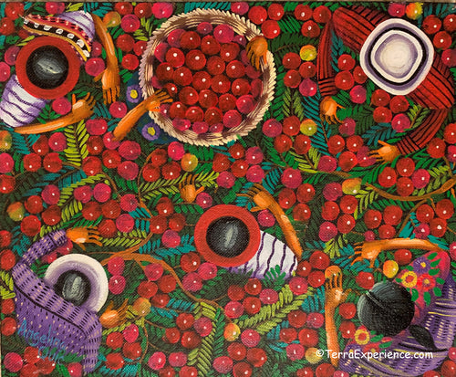 Angelina Quic Oil Painting - Mayan Apple Picking Overhead  (P-M-AQ9-20S) 9