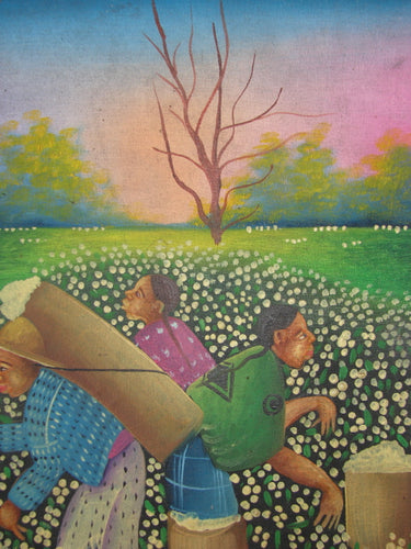 Antonio Vasquez Yojcom Oil Painting - Cotton Harvest on Lake Atitlan  (P-M-AVY-018)  9