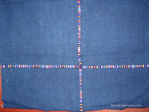 Corte - Indigo Morga Skirt from Nahuala Guatemala, Girls with randa C_N_063