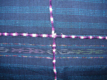 Corte - Indigo Morga Skirt from Nahuala Guatemala, Girls with randa and stripes C_N_064