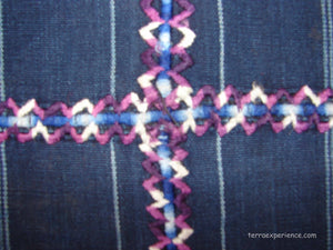 Corte - Indigo Morga Skirt from San Antonio Palopo Guatemala, Girls with randa and stripes C_SAP_012