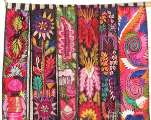 Chichicastenago Sash Belts or Fajas from Guatemala - Rack 18C