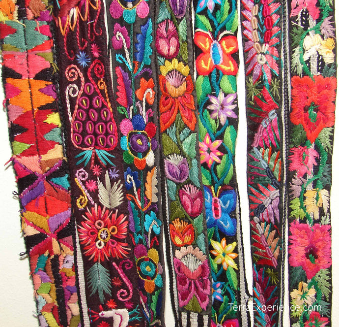 Chichicastenago Sash Belts or Fajas from Guatemala - Rack 18H