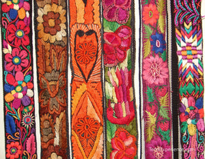 Chichicastenago Sash Belts or Fajas from Guatemala - Rack 18i