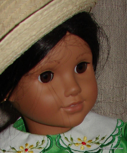 Doll Hat, Straw Brimmed   /