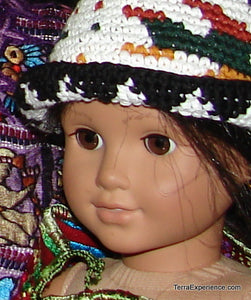 "Doll Hat, ""Gorras"" from Chichicastenango with Animal Designs fit American Girl Doll and Bitty Baby"