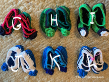 "Doll Shoes / ""Zapatos Para Muneca""  -  Green and Blue"