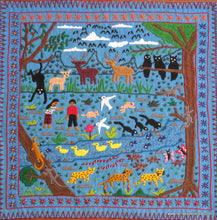 "Mayan Embroidered Folk Art Tapestry 15-04:    ""Tema La Naturaleza"" (Theme: Nature), Candelaria J.C."