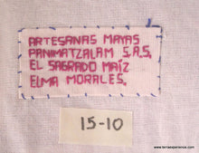 "Mayan Embroidered Folk Art Tapestry 15-10:    ""El Sagrado Maiz"" (Sorting the Corn), Elma Morales"