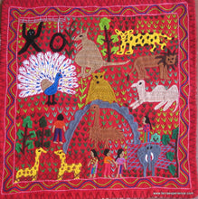 "Mayan Embroidered Folk Art Tapestry 15-18:    ""El Soologico"" (The Zoo),  Josefina Quino"