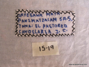 "Mayan Embroidered Folk Art Tapestry 15-19:    ""Tema: El Patoreo"" (Theme: The Pasture), Candelaria J.C."