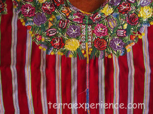 Huipil - Patzun, Woman's Flowered H_PA_15-04