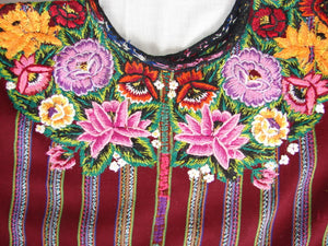 Huipil - Patzun, Woman's Flowered H_PA_100