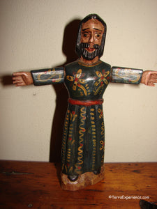 "Santos:  Medium - Jesus Christ Wood Carving (approx 8"")"