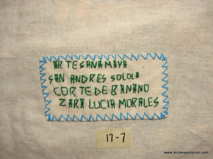 "Mayan Embroidered Folk Art Tapestry 17-07:    ""Corte De Banano"" (Cutting the Bananas), Zara Lucia Morales"