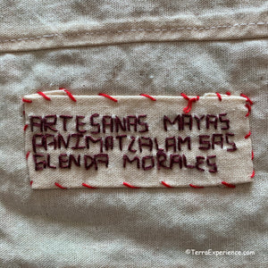 Mayan Embroidered Folk Art Tapestry R-03:  (Christmas Market) - Glenda Morales