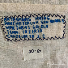 "Mayan Embroidered Folk Art Tapestry 20-G:  ""Tema: La Feria"" (Theme: The Fair) - Candelaria J. C."