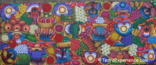 "Angelina Quic Large Oil Painting - Mayan Market Overhead  (P-L-AQ-19D) 20""x50"" (LARGE)"