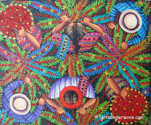 Angelina Quic Oil Painting - Mayan Coffee Picking Overhead  (P-M-AQ9-19G)