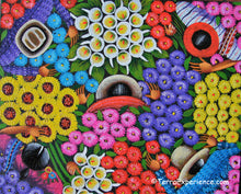 Angelina Quic Oil Painting - Mayan Flower Market Overhead  (P-M-AQ9-19K)