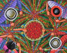 Angelina Quic Oil Painting - Mayan Coffee Picking Overhead  (P-M-AQ9-19P)