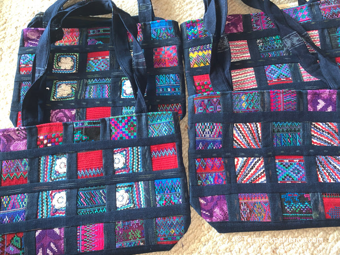 Bags: Indigo Patchwork Shoulder Bags by Francisco from Todos Santos