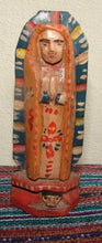 "Santos:  Small - Guadalupe 5"" Wood Carving  (Option 002 )"