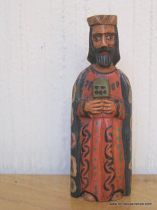 "Santos:  Small - Los Reyes Mayos (Wise Men) Wood Carving  (6"")"