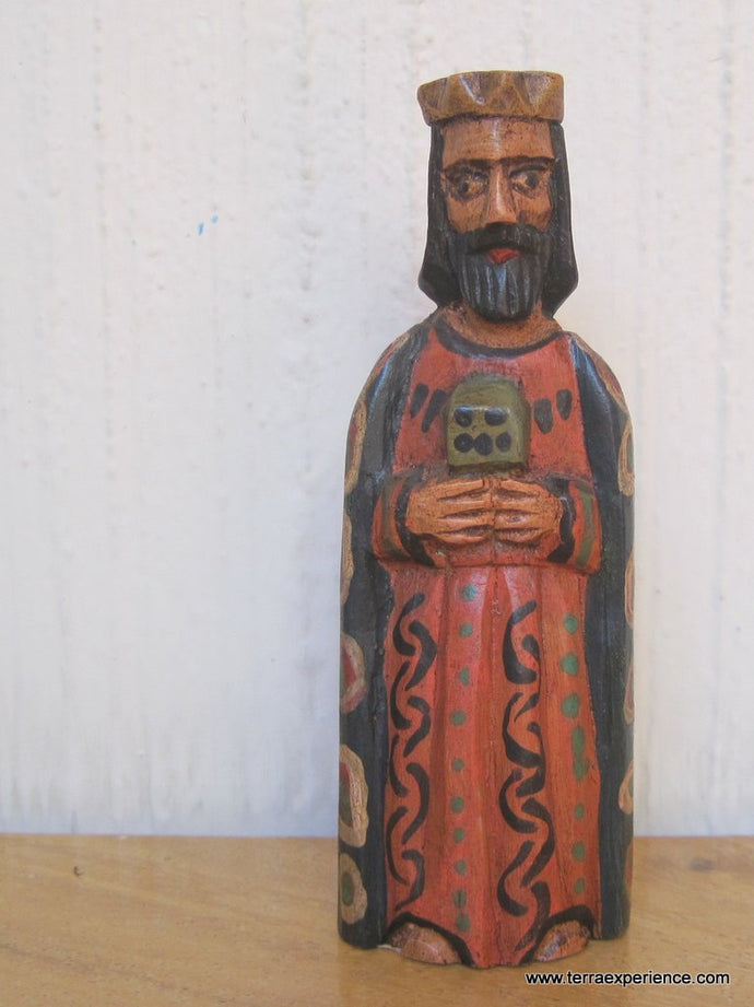 Santos:  Small - Los Reyes Mayos (Wise Men) Wood Carving  (6