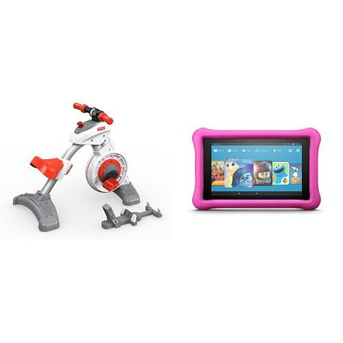 Fisher Price Think & Learn Smart Cycle and All-New Fire 7 Kids Edition Tablet Pink Kid-Proof Case Pink Tablet