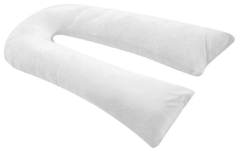 Oversized - Total Body Pregnancy Maternity Pillow- Full Support - w/ Zippered Cover - White - Exclusively By Blowout Bedding RN# 142035 20Wx130L