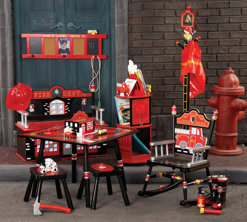 Firefighter Table & 2 Stool Set Firefighter
