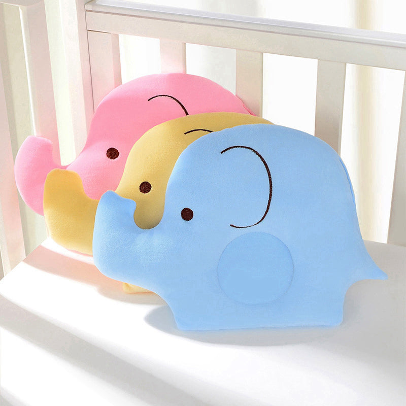 Baby Soft Cotton Elephant Head Shaping Pillow