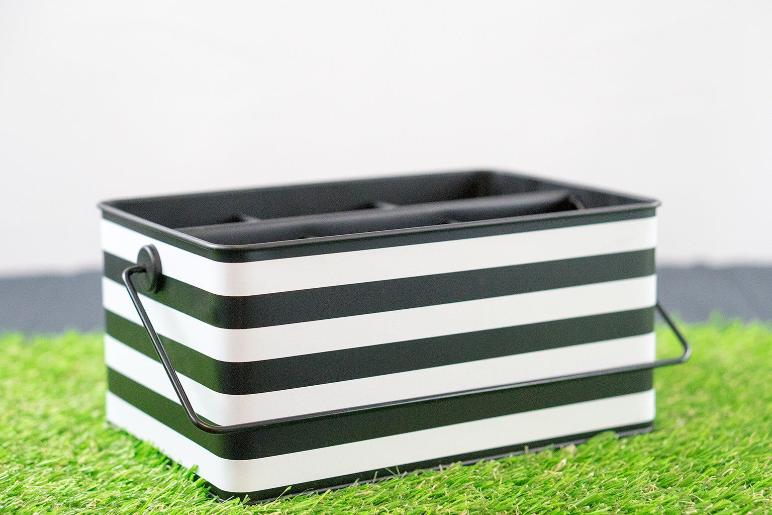 Black & White Stripe Utensil Caddy - Well Hosted!