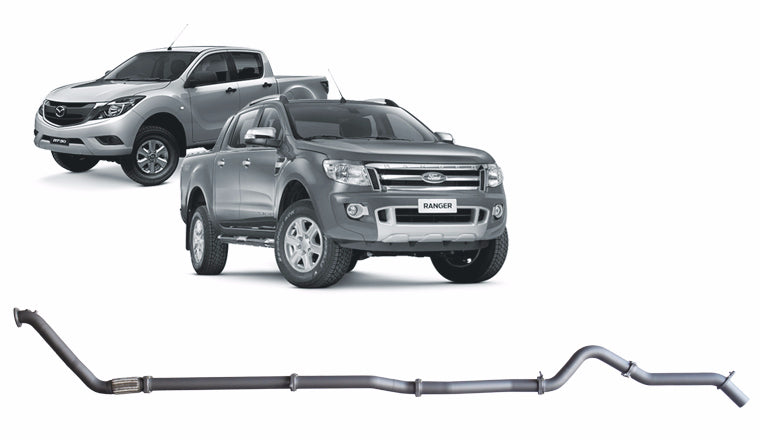 REDBACK 4X4 EXTREME DUTY - 4X4 PERFORMANCE EXHAUST TO SUIT FORD RANGER PX, PX MK2 (2011 - 2016), MAZDA BT-50 UP, UR (2011 - 2016)