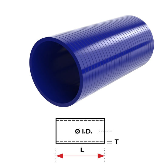 "ID 4""(101mm), Blue, 76mm straight"