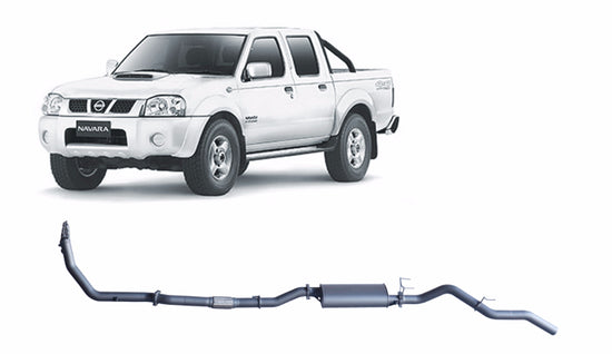 Redback 4x4 Extreme Duty Exhaust to suit Nissan Navara (11/2001 - 12/2006)