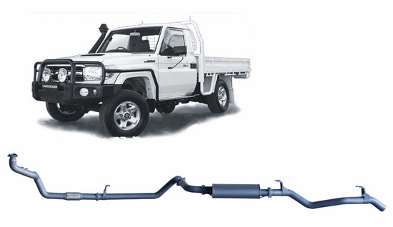 Redback 4x4 Extreme Duty Exhaust to suit Toyota Landcruiser (01/1990 - 01/2007)