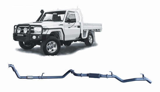 Redback 4x4 Extreme Duty 4X4 Performance Exhaust to suit Toyota Landcruiser (01/1990 - 01/2007)