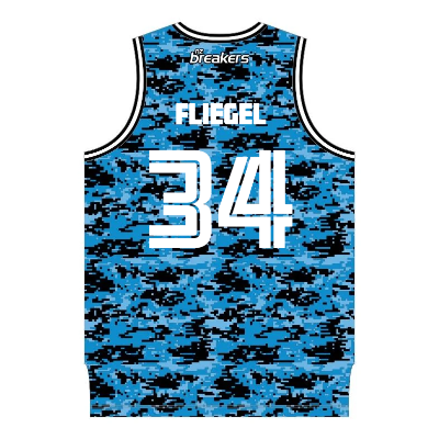 NZ Breakers Digital Camo Basketball Singlet