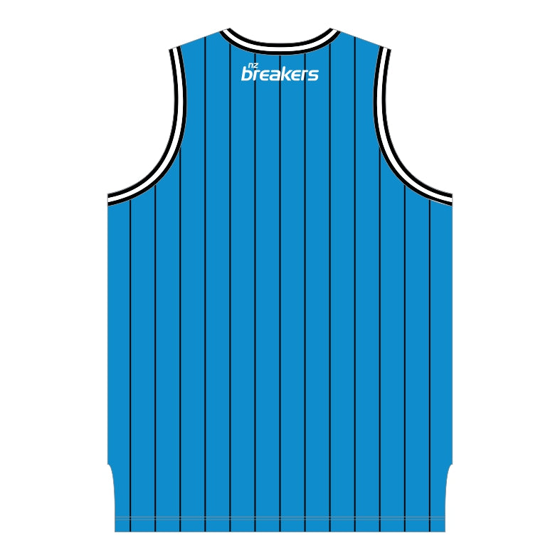 NZ Breakers Pinstripe Basketball Singlet