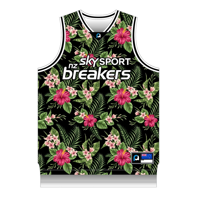 NZ Breakers Floral Basketball Singlet