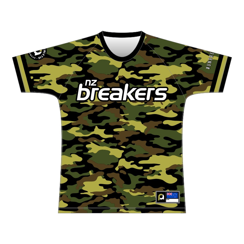 NZ Breakers Camo Training Tee