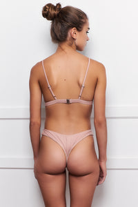 FALLON TRIANGLE TOP | Nude