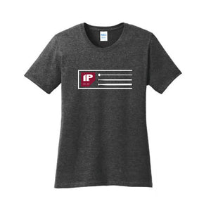 IP Heather Grey Ladies Scoop Neck T Shirt