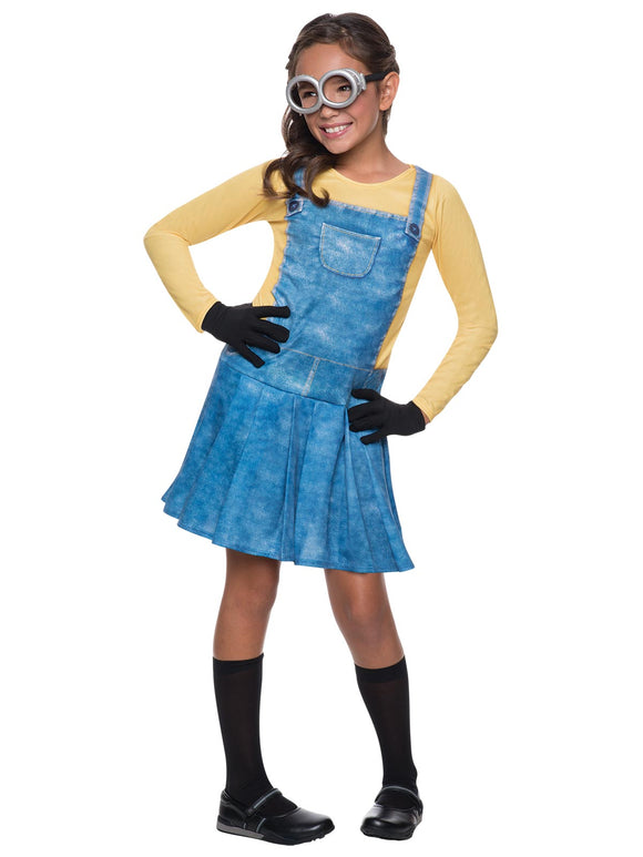 MINION FEMALE COSTUME - SIZE 3-5